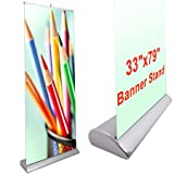 Professional Luxurious Rollup Retractable Banner Stand 33'' x 79''