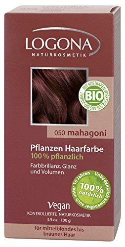 Botanical Hair Color - Logona Herbal Hair Color Mahogany, 100 Gram