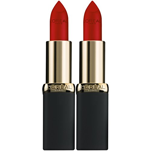 L'Oreal Paris Cosmetics Color Riche Matte Lip Color, 403 Eva's Red, 2 Count -