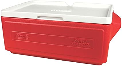 Amazon Com Coleman Party Stacker Cooler Red 24 Can 3000005591 Sports Outdoors