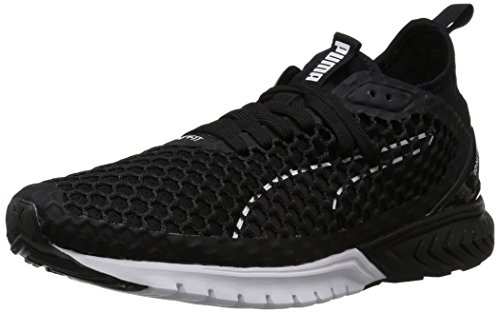 PUMA Women's Ignite Dual Netfit Wn Cross Trainer, Black White, 8 M US