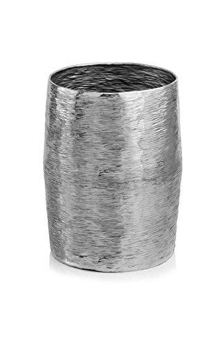 Barril Barrel Planter in Silver (Silver Finish Barrel)