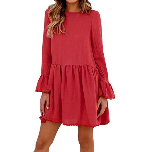 Belted Tweed Skirt - HITRAS Sexy Dress! Fashion Womens Solid Bowknot Lace Up Holiday Dress Ladies Party Dress