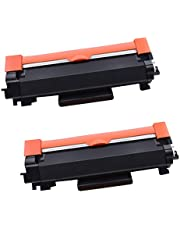 2-Pack Compatible Toner Cartridge Replacement for Brother TN2450 TN-2450 (3,000 Pages) for Brother HL-L2350DW HL-L2375DW HL-L2395DW MFC-L2710DW MFC-L2713DW MFC-L2730DW MFC-L2750DW