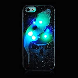 Buy Halloween Skull Style Grind Arenaceous With Flash Back Case for iPhone 5/5S