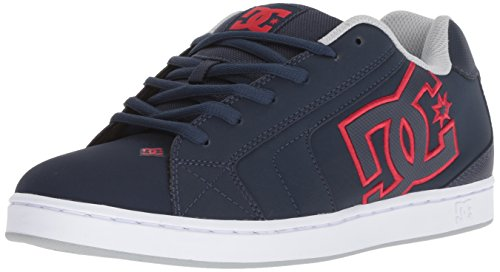 Sneakers Suede Dc - DC Men's NET Skate Shoe, Navy/red, 11.5 Medium US