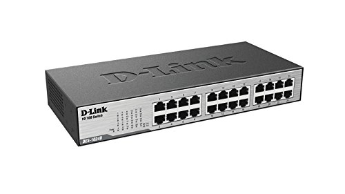 D-Link 24-Port 10/100 Unmanaged Desktop or Rackmount Switch (DES-1024D/RE) Certified Refurbished by D-Link