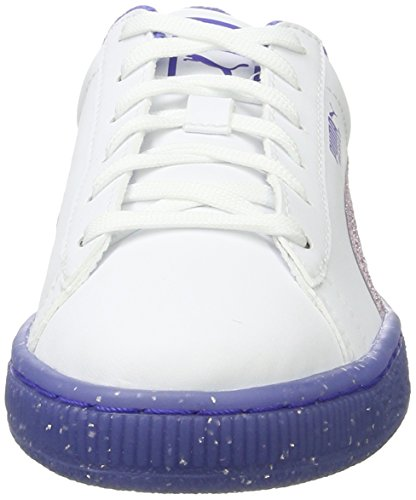 Niños Iced Zapatillas 2 white Jr Basket Glitter Unisex Puma Blanco smoky Grape 4q5R0a