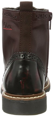 Oliver Red Boots 25465 Bordeaux s Women's Combat dxn4qTwpU