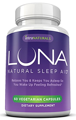 Mieux que de simplement mélatonine | LUNA | Le # 1 Natural Sleep Aid Sur Amazon (! Méfiez-vous des imitateurs) - 100% naturel, à base de plantes et non-Habit Pill Forming Sleeping gratuit des produits chimiques et additifs sévères (fait avec valériane, ca
