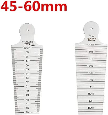 Un known Mobile Phone Replaceable 1-60mm Metric Imperial Wedge Feeler 1-15/15-30/30-45/45-60mm Taper Depth Gauge Accessory Machine Parts (Size : 45-60mm)