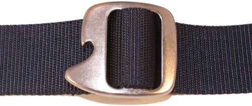 Bison Designs Tap Cap 38mm Belt with Gunmetal Buckle (Navy, Max 38-Inch Waist/Medium) by Bison