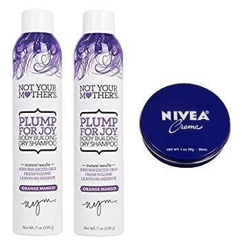 Not Your Mother's 2 Pack Plump For Joy Body Building Dry Shampoo 7 Oz.+ Travel Size Body Cream 1 Oz. by Not Your Mother's