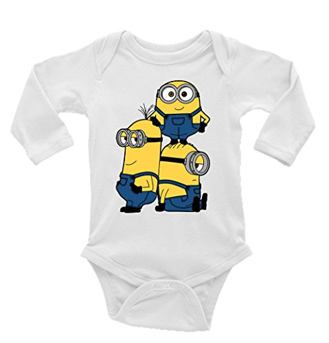 Minions Despicable Me Long Sleeve Unisex Onesie (Newborn)]()