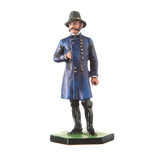 Tin Toy Soldier USA Civil war Northerners General Ambrose E. Burnside hand painted metal sculpture miniature figurine 54mm #5.60 Civil War Sculpture