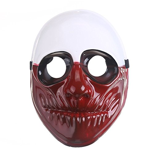 KAIMO Payday Mask,Hoxton Dallas Wolf Payday Mask Clown Mask Airsoft Payday Mask for Xmas Party Kids (Payday 2 Hoxton Costume)