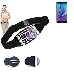 Cinturón de bandolera bolso de la cintura bolsa para Samsung Galaxy Note 5, negro. Aptitud del deporte de la cubierta a prueba de lluvia Ejercicio corriente - K-S-Trade (TM)