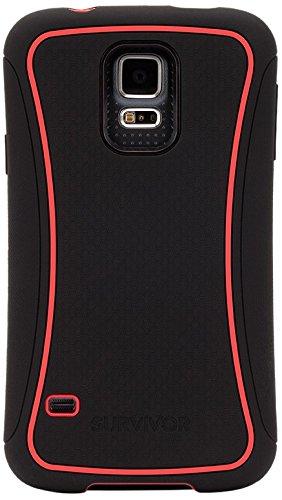 info for fe33c cf39d Griffin Survivor Slim for Samsung Galaxy S5, Black/red
