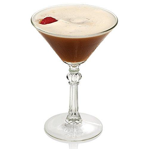 Libbey 8882 Art Deco 4.5 oz Martini Glass, Set of 6 with Bonus FDL Picks Art Deco Amber Glass