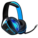 Mpow Gaming Headset for Xbox One, PS4, PC, 7.1 Surround Sound Gaming Headphones, 3.5mm USB Wired Headset, Noise-Cancelling Mic, Mute Mic, LED Lights, Over-Ear Headphone for Computers, Game Consoles