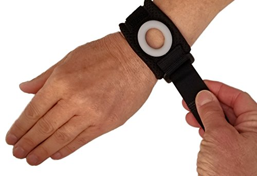 Wrist Fractures (Bullseye Wrist Band (L/XL) - TFCC Wrist Brace, Support for Ulnar Sided Wrist Pain, Triangular Fibrocartilage Complex Injuries/Tear, DRUJ Instability - Free Shipping - Fits Wrist Circ. 7
