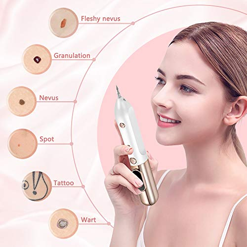Portable Beauty Equipment With Home Usage,USB Charging,10 Replaceable Needles,9 Levels Adjustable,Gold