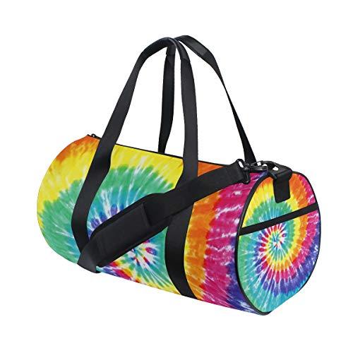 Tye Dye Travel Duffel Bag Sports Gym Duffel Bag Luggage Handbag for Men Women