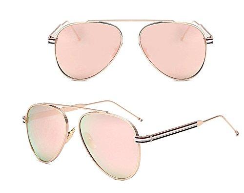 Moda Black Gafas GGFTX Película Damas de Color de Nuevas Moda Personalidad Gafas Pink Sol Sol de Macho RggwOZTx