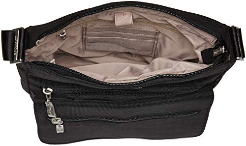 Sand Top Rfid Crossbody Baggallini Flap Black Wristlet Zip with Bwd8qCx8f