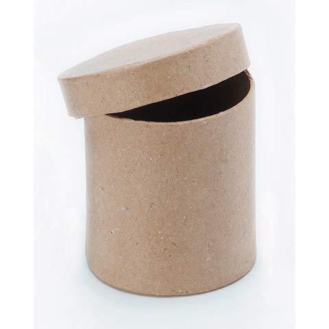 (Darice 2805-46FCAXS Paper Mache Box - Round with Lid - 3 x 3 in)