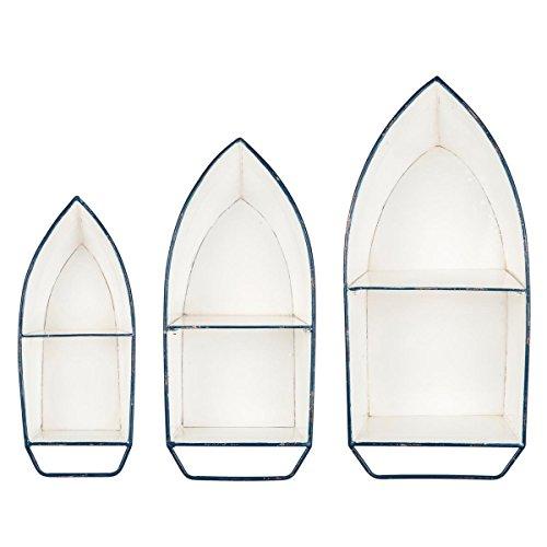 Foreside FDAD03984 Enamel Boat Shelves (Shelves Small Shaped Boat)