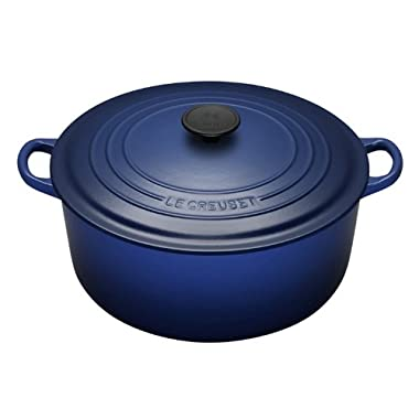 Le Creuset Enameled Cast-Iron 5-1/2-Quart Round French Oven, Cobalt