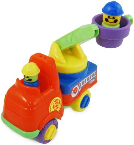 Push Along Fire Engine w/ Turning Ladder & Firefighters Toddler Toy 18m by Fun Time [並行輸入品]