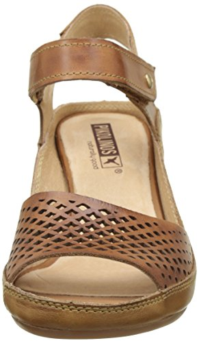 Brown v17 One All Pikolinos Brandy Heels Women's Wedge Brown Capri Size Fits W8f Sandals xCpBA