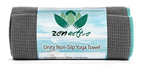 Zen Active Non ­Slip Yoga Towel - Eco Friendly, Custom Non­Slip Hot Yoga Towel is Ultra Absorbent - Ideal for Hot Yoga - Extreme Durability, Backed By A Lifetime Guarantee - Love It Or It's Free!