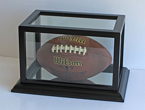 - Football Display Case Stand, Hobby Collector's Display Case (Black Finish)