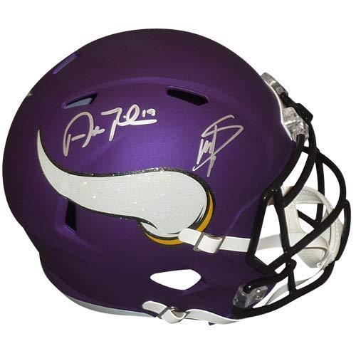 Adam Thielen Stefon Diggs Minnesota Vikings DUAL Signed Autograph Speed Full Size Helmet JSA Witnessed Certified