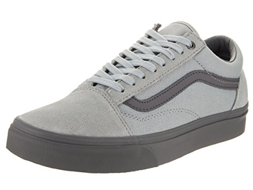Adults' C Old Skool Low Pewter Rise Grey and Vans D Trainers Top High Unisex tASwtH