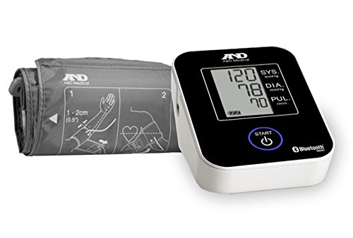 A&D Medical Deluxe Upper Arm Blood Pressure Monitor with Bluetooth (UA-651BLE)