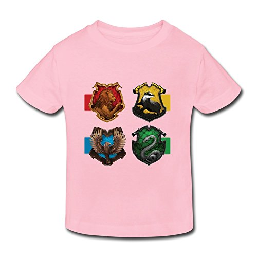 YUTUO Kid's Harry Potter Crests Short Sleeve 2-6 Boys Girls T Shirts Pink 3 Toddler ()