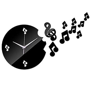 Amazonde Quticl Wand Uhren Für Wohnzimmer Musikalische Note Dekor