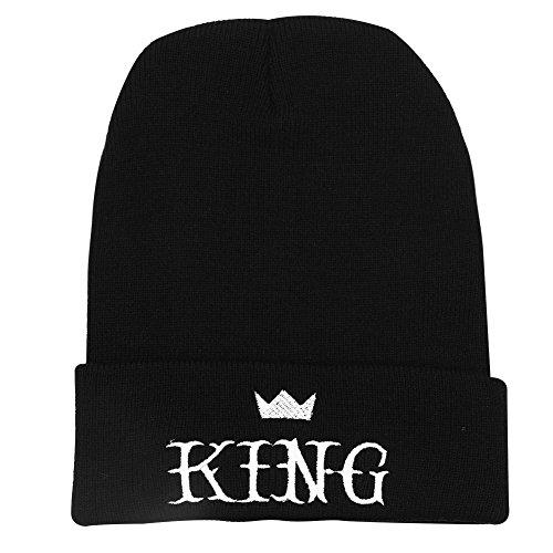 los Letters de acrílico Borla Queen Las Negro King Moda de Sombrero Hombres Bordado Couple de King de Caliente de Mujeres pwBCCY