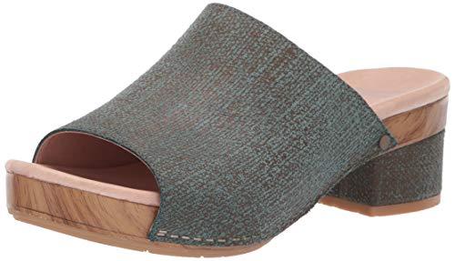 Dansko Women's Maci Slide Sandal, Teal Textured Leather, 42 M EU (11.5-12 US)