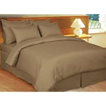 1200 Thread Count Four (4) Piece Queen Size Taupe Stripe Bed Sheet Set, 100% Egyptian Cotton, Premium Hotel Quality