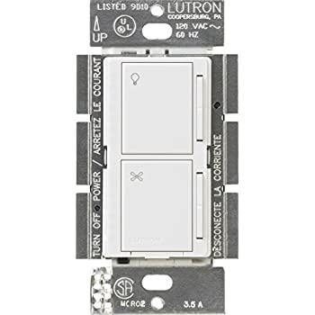 Lutron Ma Lfqhw Wh Maestro Fan Control And Dimmer Kit White Wall
