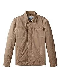 WenVen Men's Winter Thicken Quilted Work Jacket