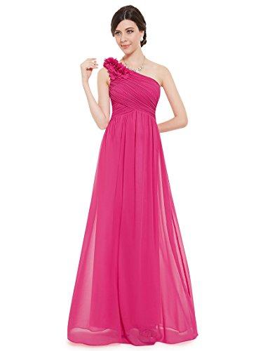 Boda Dama Ever Fucsia 08237 Vestido Mujer Pretty de Rosa de Cóctel Vestido para Verano Largo Elegante Fiesta Honor xqSR4q