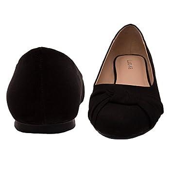 Women's Wide Width Flat Shoes - Comfortable Slip On Round Toe Ballet Flats. (Mc Black 180303,9.5ww) 4