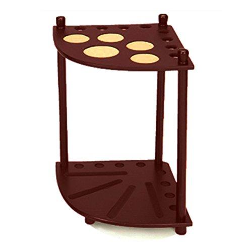 [Imperial Hardwood Corner Floor Billiard/Pool Cue Rack, Holds 8 Cues, Walnut] (Billiards Corner)