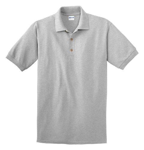 Gildan mens Ultra Cotton 6.5 oz. Pique (Ash Pique Polo)
